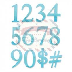 Fustella Sizzix Serif Essential Numeri