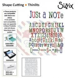 Fustella Sizzix Thinlits Alfabeto Just a Note