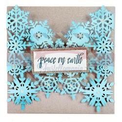 Fustella Sizzix Thinlits Snowflake Card