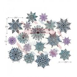 Fustella Sizzix Framelits Swirly Snowflakes by Tim Holtz