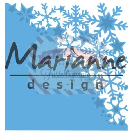 Fustella metallica Marianne Design Creatables Snowflakes corner