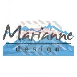 Fustella metallica Marianne Design Creatables Horizon snowy mountains