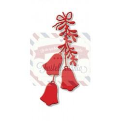 Fustella metallica Mistletoe and Bells
