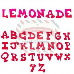 Fustella Sizzix BIGz XL Lemonade Alphabet uppercase