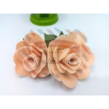 Fustella XL Rose due misure con foglia