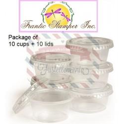 Contenitori 10 pezzi da 6 cl Clear Treat Cups with lids