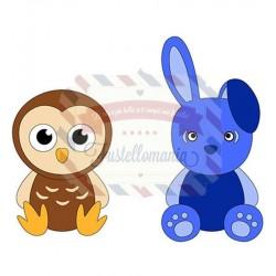 Fustella metallica Nellie's Choice Hare & Owl