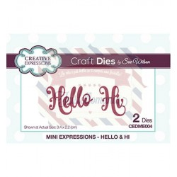 Fustella metallica Creative Expressions Hello & Hi