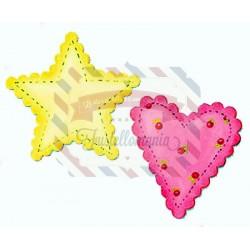 Fustella Sizzix Bigz Heart & Star scallop