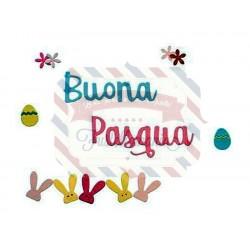 Fustella Sizzix Thinlits Buona Pasqua