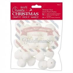 Pom Poms 30 pezzi White