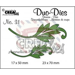 Fustella metallica Crealies Duo Dies 31 Leaves 1
