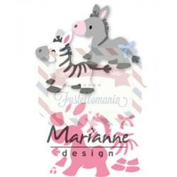 Fustella metallica Marianne Design Collectables Eline's zebra & donkey