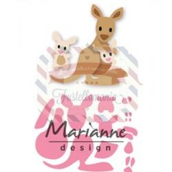 Fustella metallica Marianne Design Collectables Eline's kangaroo & baby