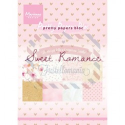 Carta da scrapbooking Marianne Design Bloc Sweet Romance