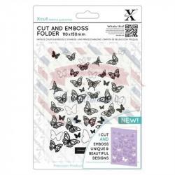 Fustella metallica Xcut Cut & Emboss Butterflies