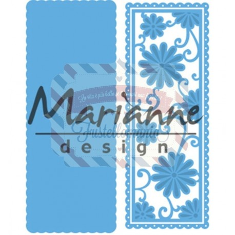 Fustella metallica Marianne Design Creatables Anja's flower rectangle