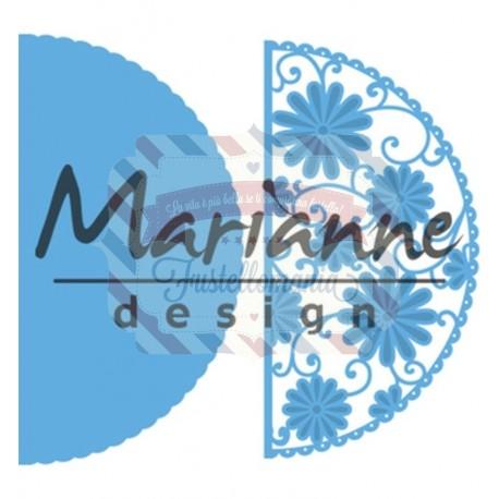 Fustella metallica Marianne Design Creatables Anja's flower demi circle