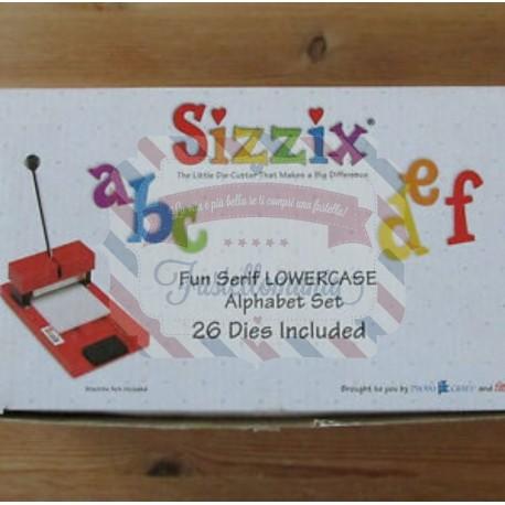 Fustella Sizzix Fun Serif Lowercase minuscolo