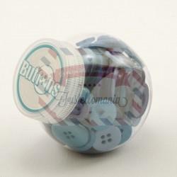Barattolo bottoni colore blu
