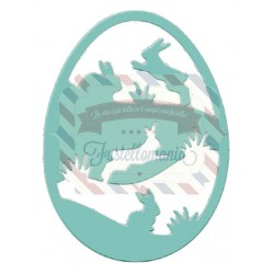Fustella metallica Bunny Egg