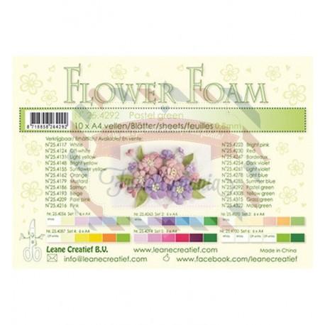 Fommy Leane Creatief per fiori 0,8 mm in fogli A4 10 pezzi colore Verde pastello