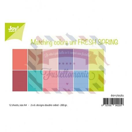 Carta da scrapbooking Joycrafts Paper Set A4 Matching Colors uni - Fresh Spring