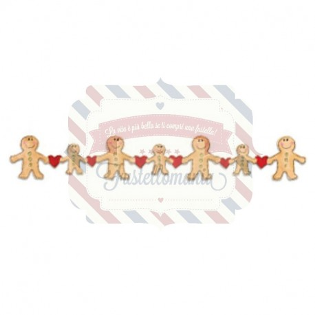 Fustella Sizzix Decorative Strip Gingerbread con cuori