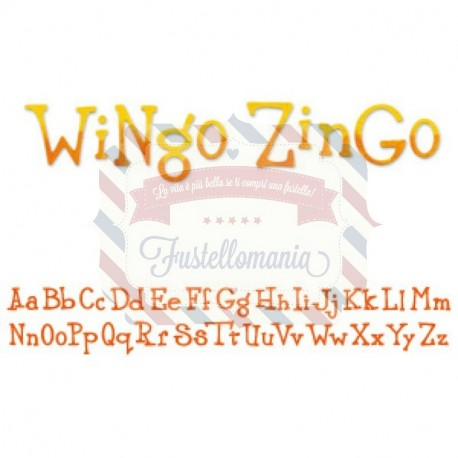 Fustella Sizzix Decorative Strip alfabeto Wingo Zingo