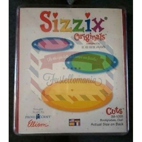 Fustella Sizzix Bigz Targhette libri ovali