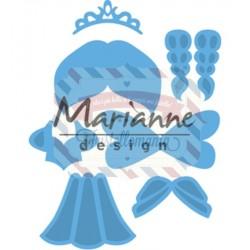 Fustella metallica Marianne Design Creatables Kim's Buddies princess