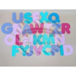 Alfabeto maiuscolo 8,7 cm a lettere separate