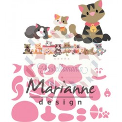 Fustella metallica Marianne Design Collectables Eline's kitten