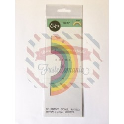Fustella Sizzix Thinlits Rainbow