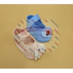 Fustella L Scarpetta maschio femmina porta confetti con fiocco e cuore