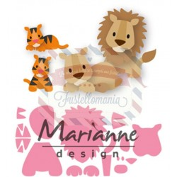 Fustella metallica Marianne Design Collectables Eline's lion tiger
