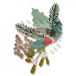 Fustella Sizzix Thinlits Winter Foliage by Debi Potter