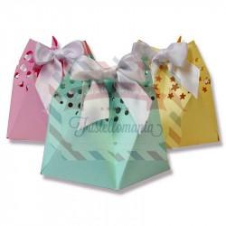 Fustella Sizzix Thinlits Star Gift Bag by Sharon Drury