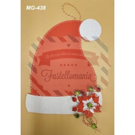 Fustella A4 Cappello di Babbo Natale con stella di Natale