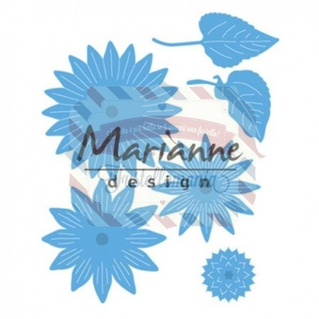 Fustella metallica Marianne Design Creatables Anja's sunflower