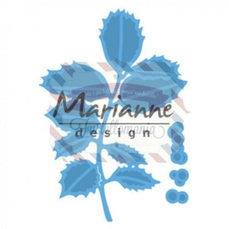 Fustella metallica Marianne Design Creatables Tiny's holly