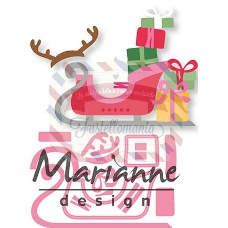 Fustella metallica Marianne Design Collectables Eline's Sleigh