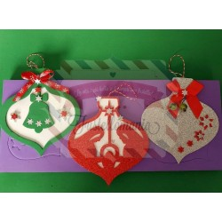 Fustella XL Palle di Natale con Natività e campana