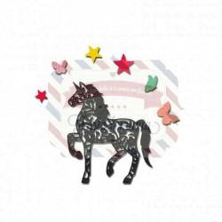 Fustella Sizzix Thinlits intricate unicorn