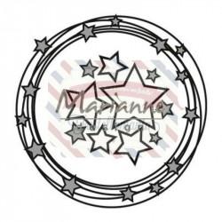 Fustella metallica Marianne Design Craftables circle & stars