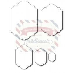 Fustella metallica Etichette tag