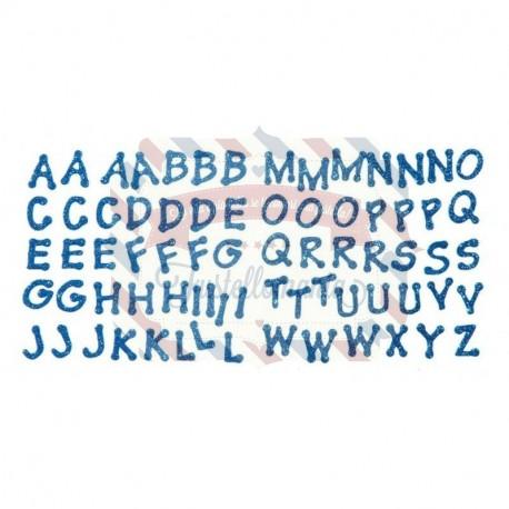 Fustellati in fommy adesivo glitterato Alfabeto Lettere adesive 2 fogli