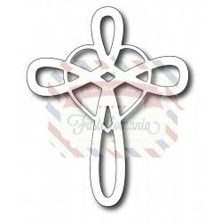 Fustella metallica Croce con cuore