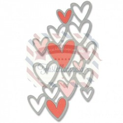 Fustella Sizzix Thinlits Scattered Hearts