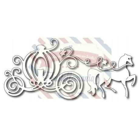 Fustella metallica Carrozza con cavallo